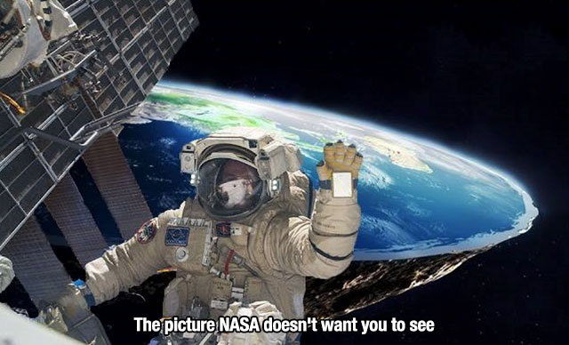 6 - Nasa flat earth photoshop