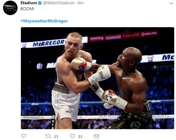 10 - SPOILER ALERT: Highlights and Tweets From The Mayweather/McGregor Fight