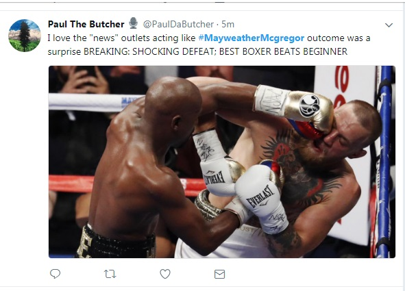 16 - SPOILER ALERT: Highlights and Tweets From The Mayweather/McGregor Fight