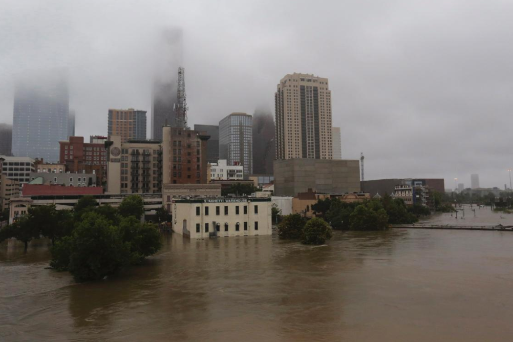 2 - Downtown flooded from Hurricane Harvey