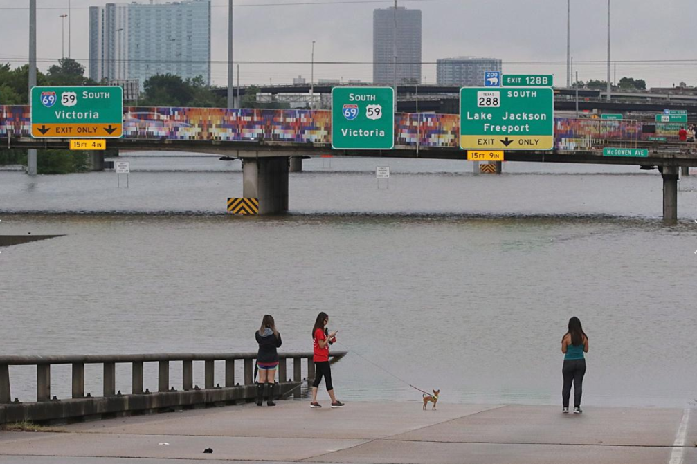 3 - Hurricane Harvey floods out highway