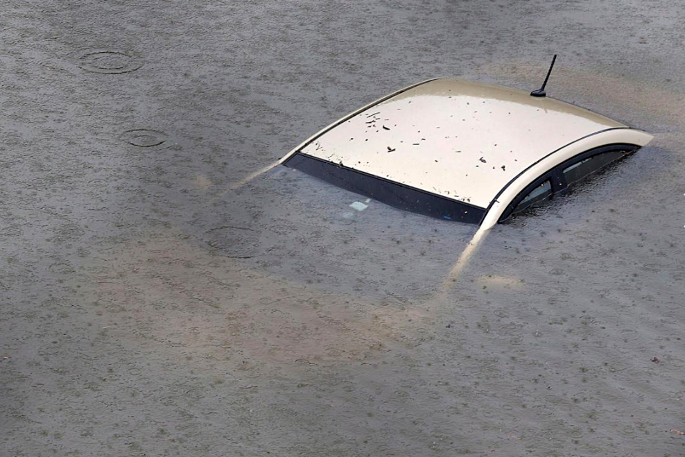 4 - car under water from hurricane harvey aftermath