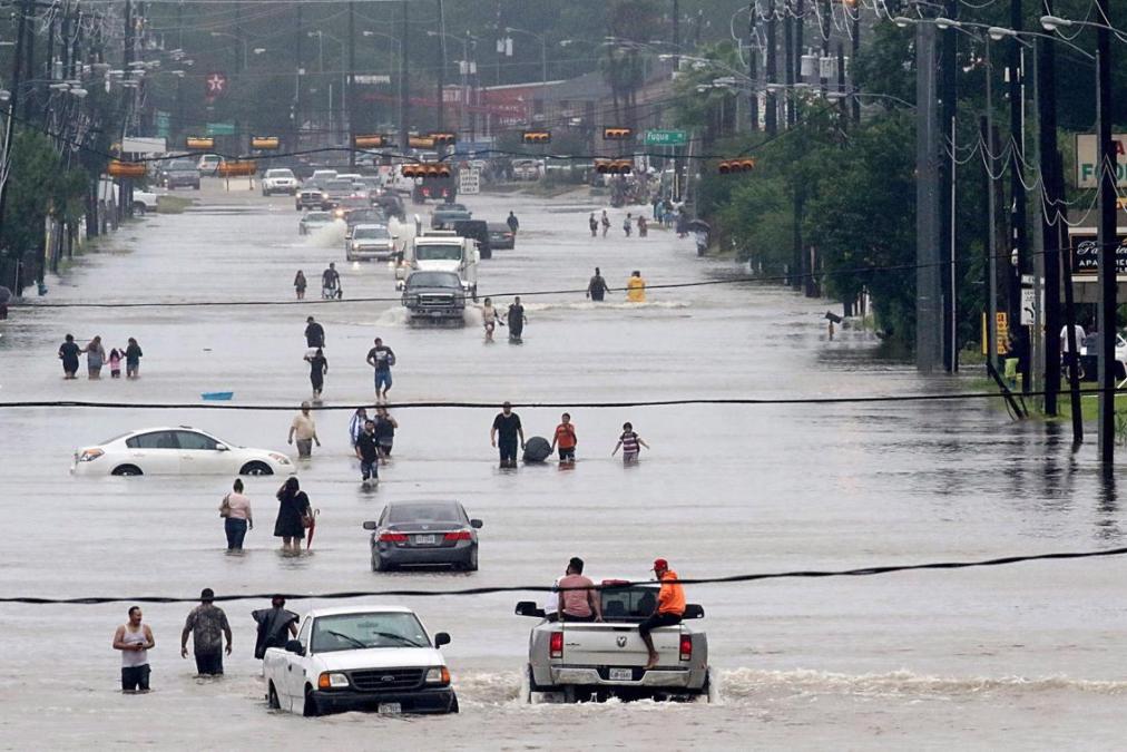 5 - Flooded road from Hurricane Harvey