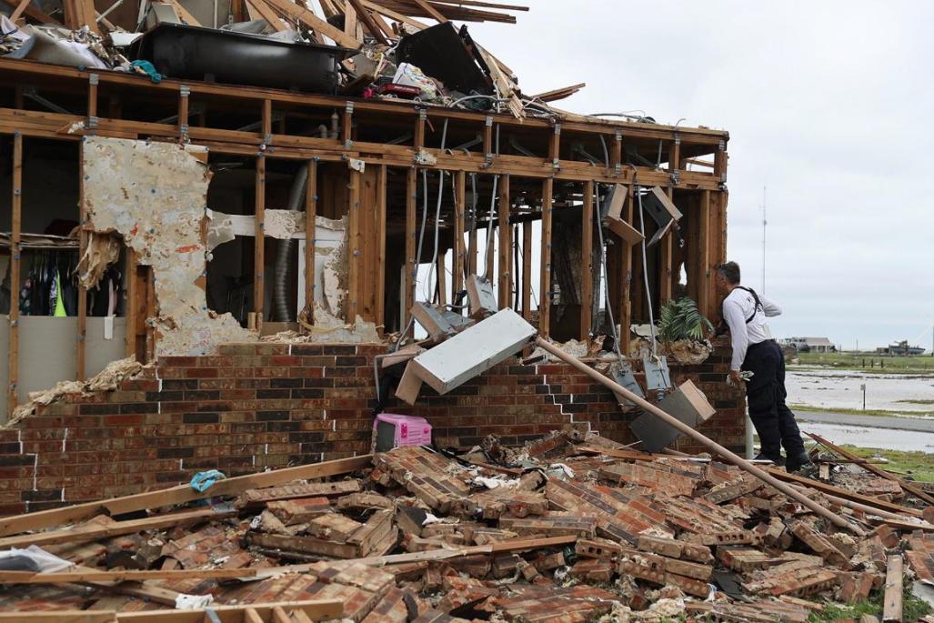 9 - House shredded from Hurricane Harvey