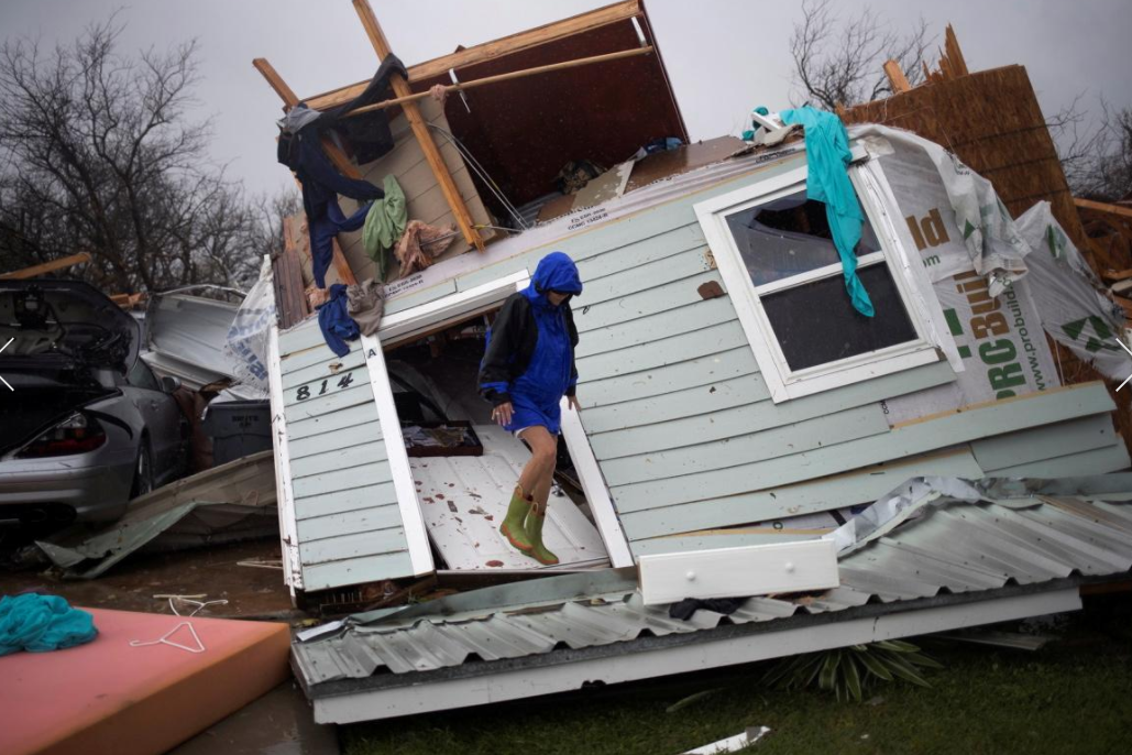 15 - House destroyed by Hurricane Harvey
