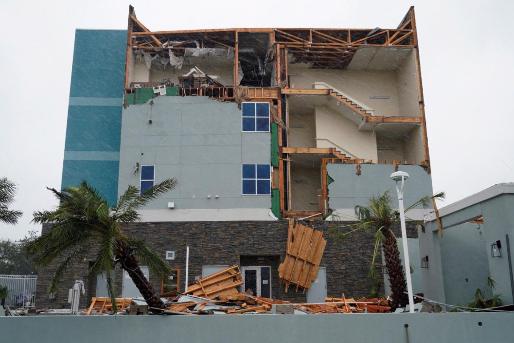 19 - Facade of building missing after Hurricane Harvey