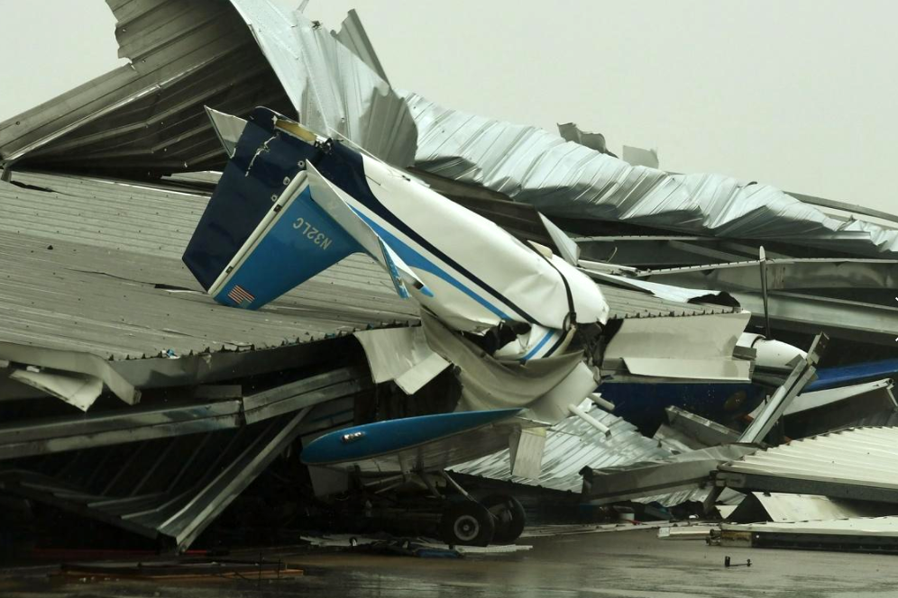 24 - Airplane that was destroyed in Hurricane Harvey
