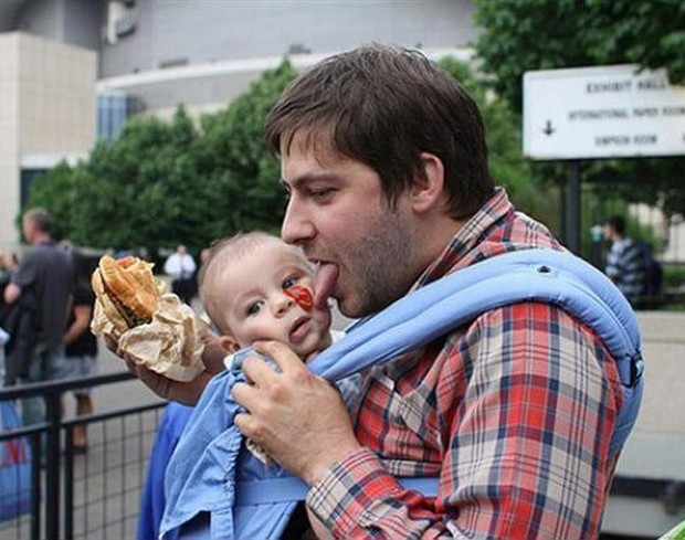 naughty dads with innocent babies