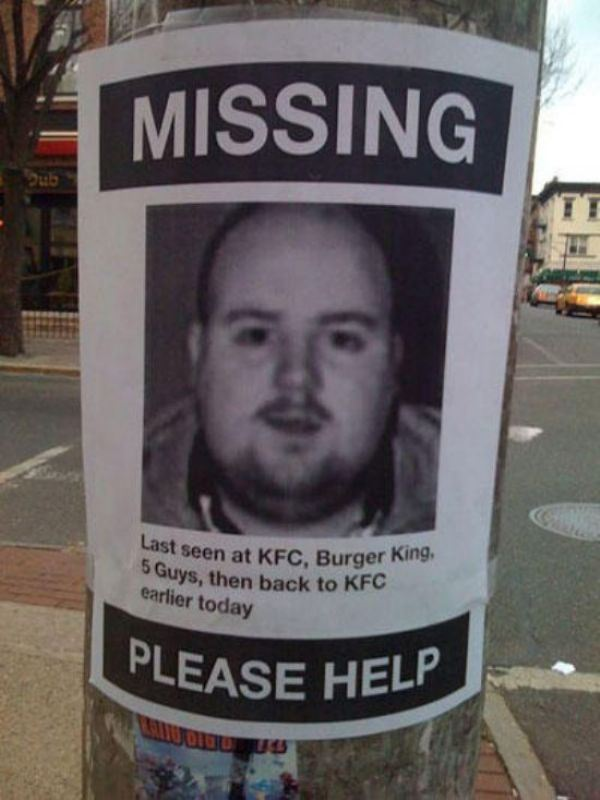 Funny street pole signs Gallery – Funny Missing Person Poster