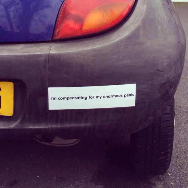 1 29 funny bumper stickers you dont see everyday