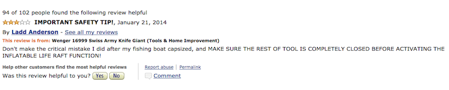 22 hilarious reviews for the wenger 16999 swiss army knife giant