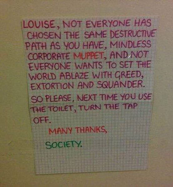 26 Hilarious Roommate Notes - Funny Gallery