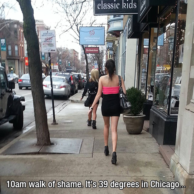 7 - 37 Party Girls Caught Taking The Walk of Shame