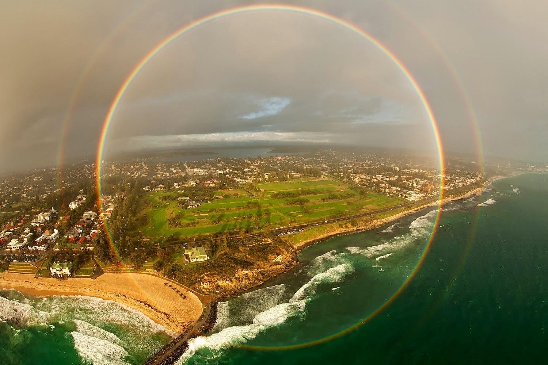 19 -  A 360 degree rainbow.