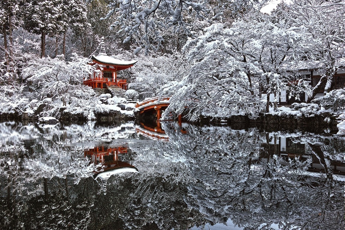 29 -  A beautiful temple in Kyoto, Japan that looks like a fairytale come true.