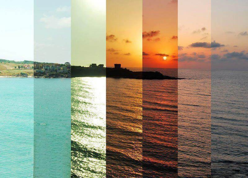 31 -  7 shots of 7 different hours of the same scenery.