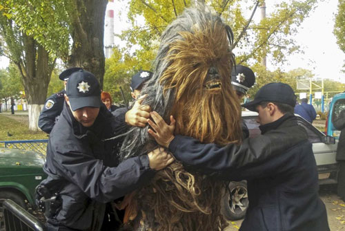 84892959 - People Being Arrested in Costume   - Weird and Extreme