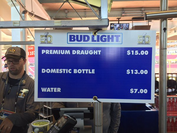4 - Beer prices at Super Bowl 50