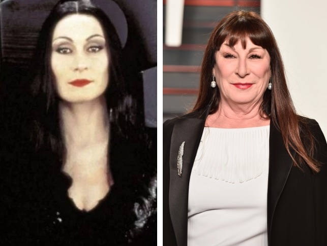 Morticia Addams played by Anjelica Huston.