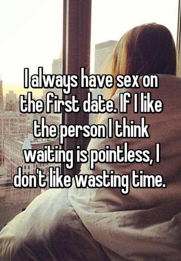 1 - Girls admit they prefer sex on the first date
