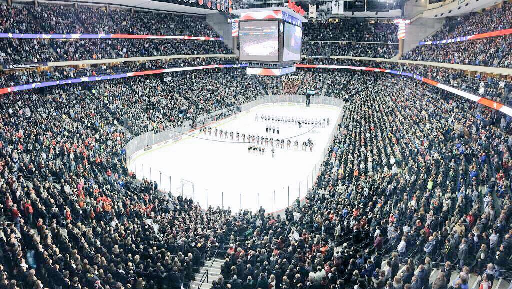 10 - This is the Minnesota High School Hockey Championship game