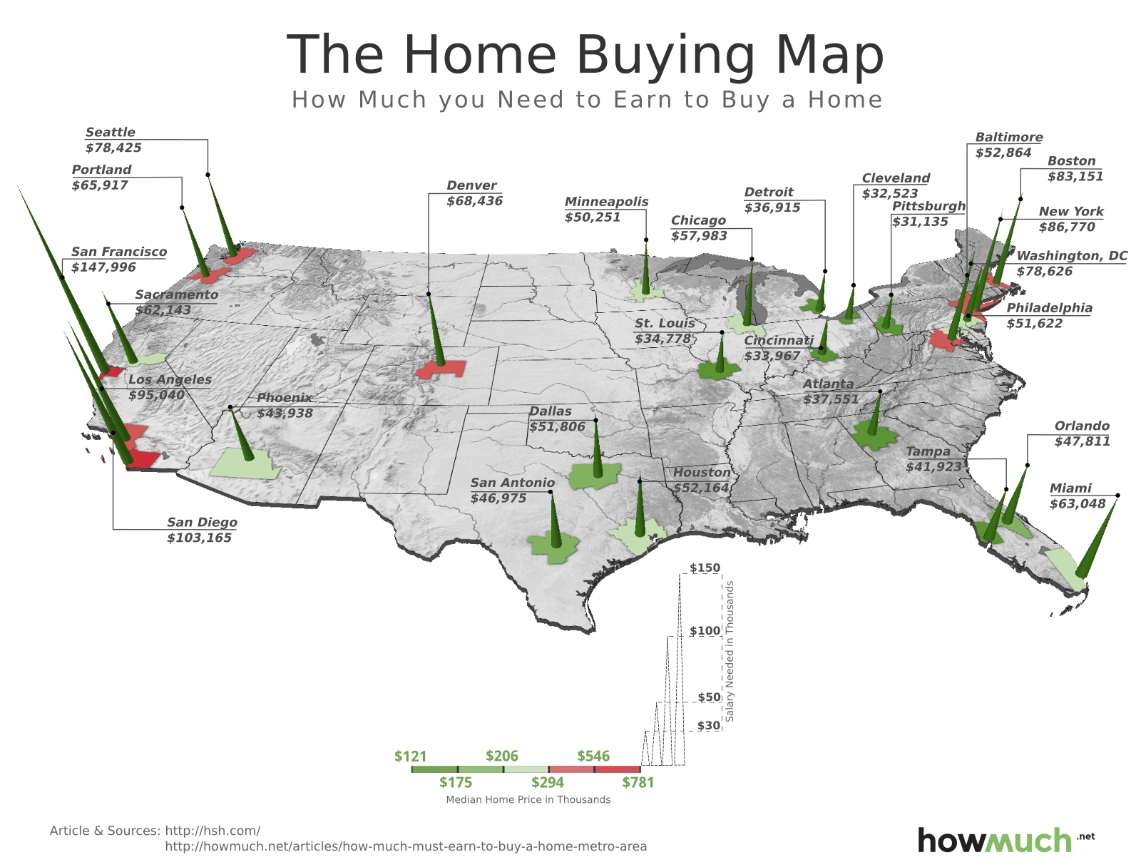 17 This 3d Map Shows How Much You Must Earn To Buy A Home In
