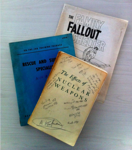 19 -  Deborah also shared some items that she took from the shelter when she sold to the Otcaseks, including some of her dad�s books on Nuclear fallout.