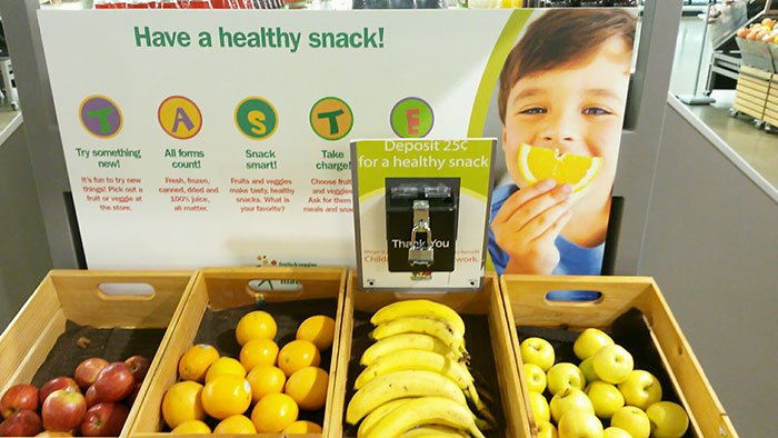 Snack while you shop for only 25 cents.