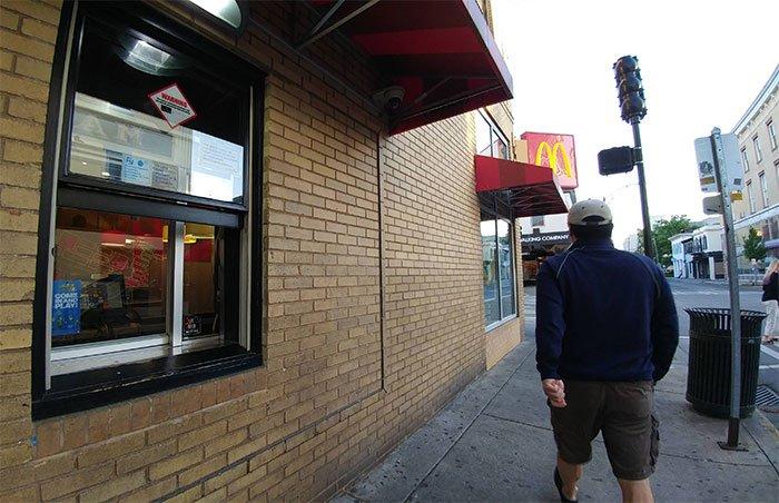This McDonald's has a walk-through.