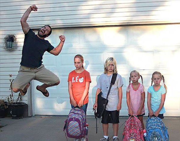 9 - 23 Parents Who Couldn't Wait For School To Start
