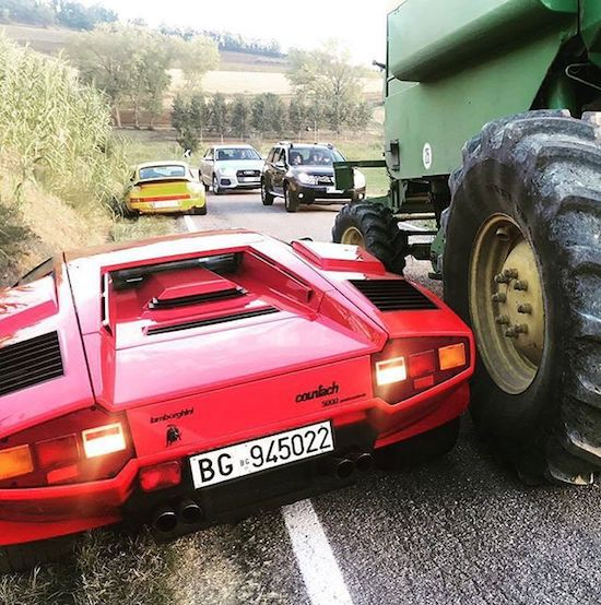 9 - Lamborghini that was in an accident with a tractor