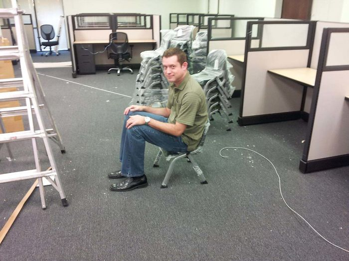 17 - My Boss Ordered Chairs For The Break Room Last Year. He Did Not Get What He Expected