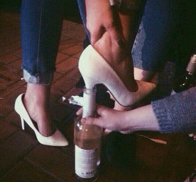 13 - This is what heels were invented for