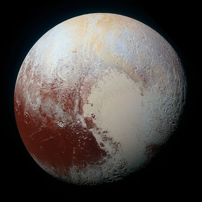 17 - A photo of Pluto in color.