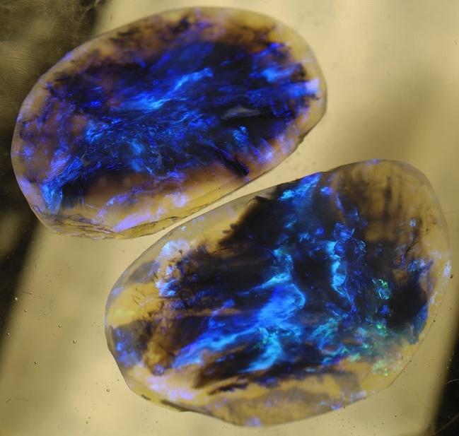 18 - Black opals.