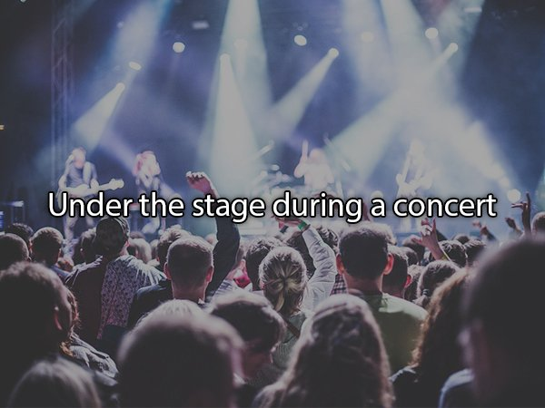 people having sex at a concert