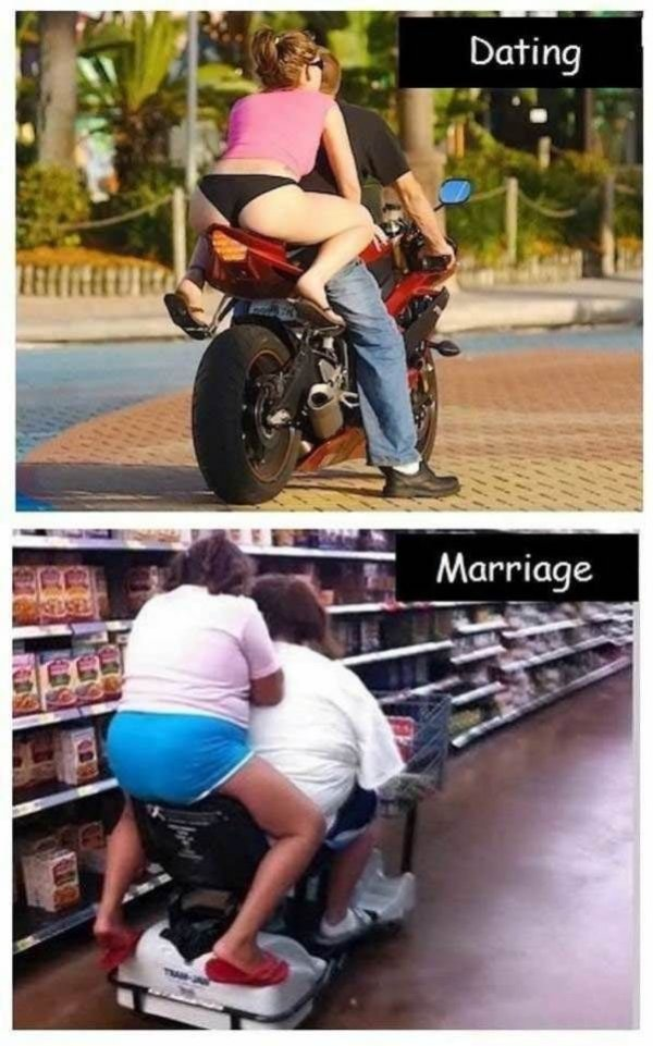 Single vs dating vs marriage