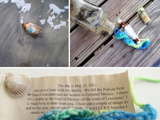 9 - A message in a bottle in Galveston, Texas