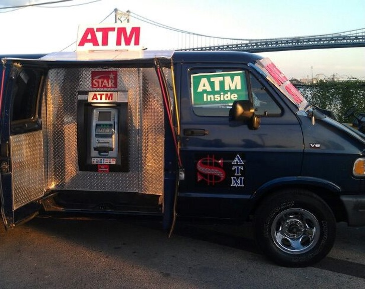 8 - A mobile ATM right on the road