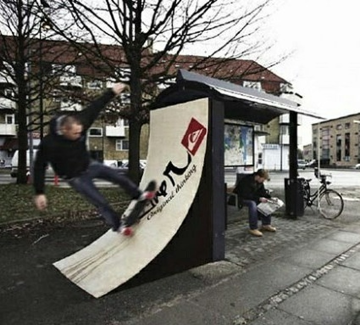 19 - A bus stop for skaters