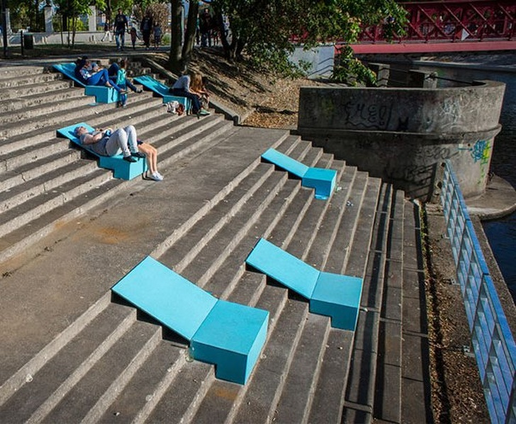 20 - Sunbathing spots on abandoned stairs