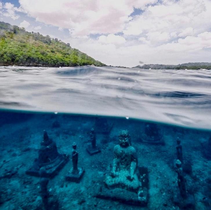 3 - An underwater Buddha on a small island near Bali