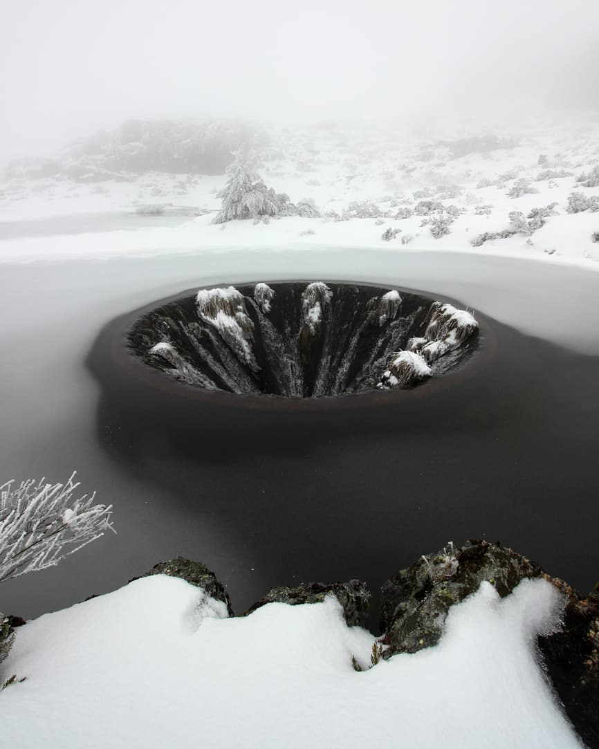 5 - A lake with a hole in it in Portugal