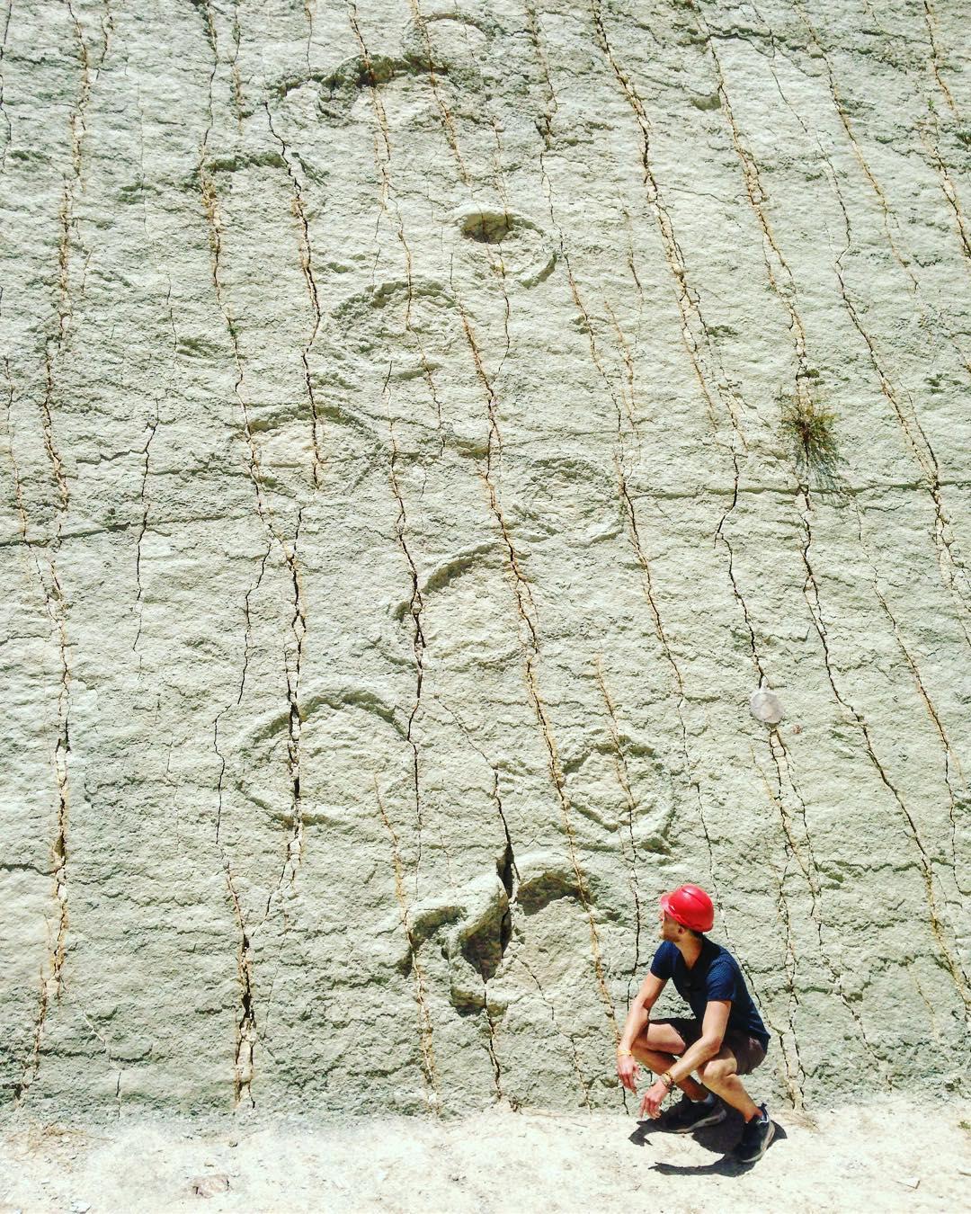 17 - Dinosaur footprints in Bolivia