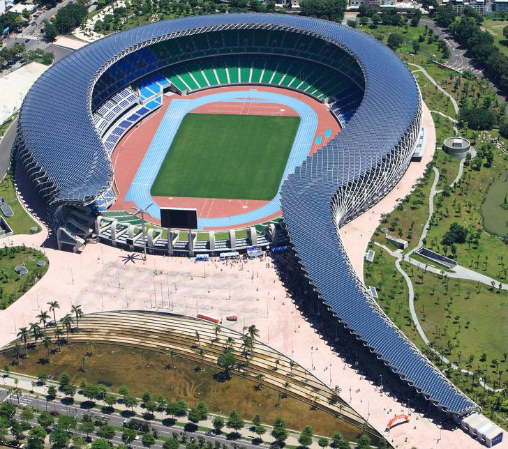 18 - A solar-powered stadium in Taiwan