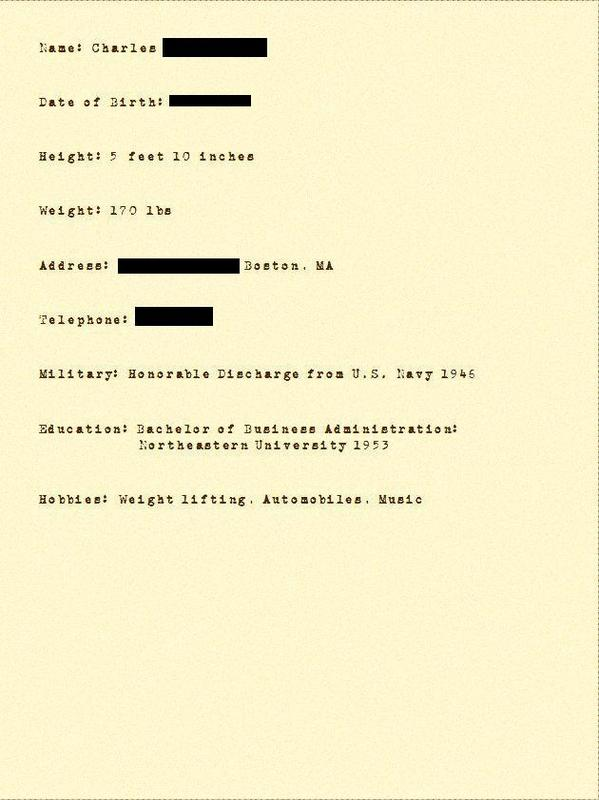 11 - 1950s resume that landed 12 job offers
