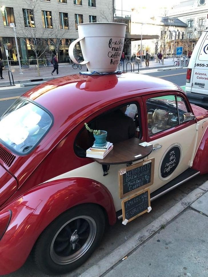 25 - The cutest coffeehouse on wheels