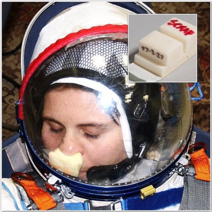 26 - A device for scratching your nose in an astronaut spacesuit