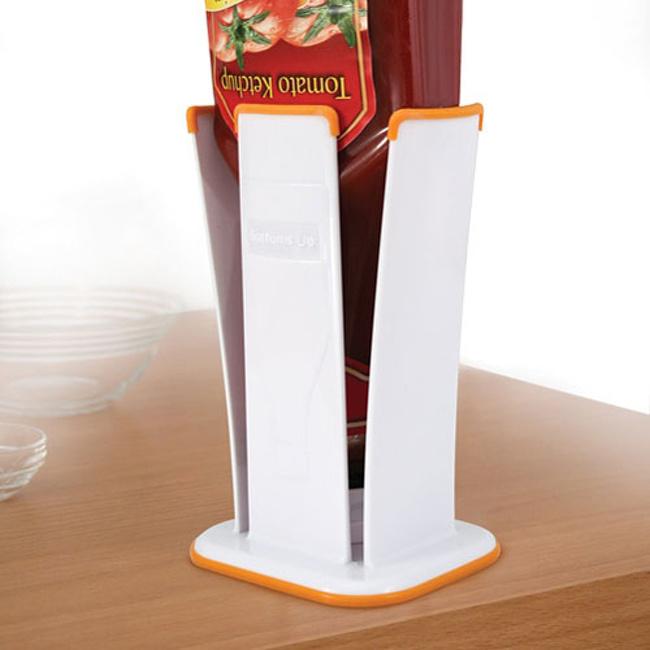 12 - An upside-down ketchup bottle holder