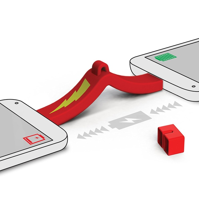 15 - A USB phone-to-phone charger that allows you to transfer battery power from one phone to another